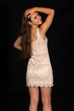 Beige dress Royalty Free Stock Photos