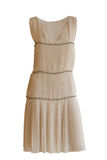 Beige  dress Royalty Free Stock Photography