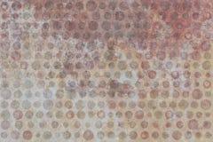 Beige e Brown Dots Texture su beige Illustrazione Vettoriale