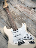 Beige electric guitar Stock Photography