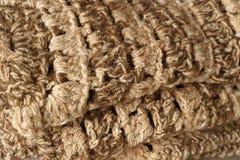 Beige en bruine dichte omhooggaand van het tapijtpatroon royalty-vrije stock afbeelding