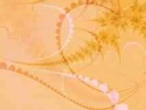 Beige en roze pastelkleurvormen royalty-vrije illustratie