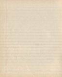 Beige exercise book paper in line Royalty Free Stock Photography