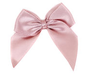 Beige fabric bow Royalty Free Stock Photo