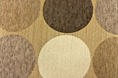 Beige fabric with circles Stock Photos