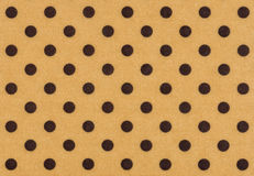 Beige fabric with dark polka dots Stock Photography