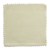 Beige fabric swatch samples isolated on white. Background royalty free stock image