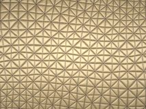 Beige fabric with triangle stitched pattern. Useful as background Stock Images