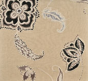 Beige fabric wallpaper Stock Photography