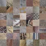 BEIGE fabrics patchwork royalty free stock image