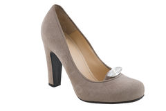 Beige fashion shoes Royalty Free Stock Photography