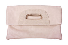 Beige female bag Royalty Free Stock Photo