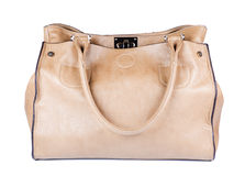 Beige female bag Stock Photography