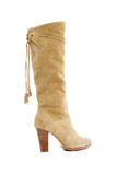 Beige female shammy boot Royalty Free Stock Photo