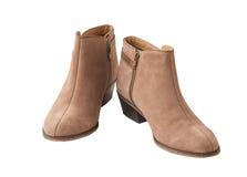 Beige female shammy boot Royalty Free Stock Images