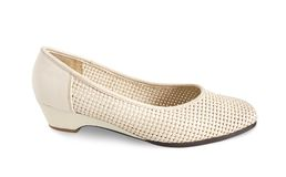 Beige female shoe Stock Photo
