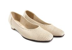 Beige female shoes Stock Photography