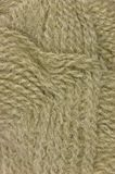 Beige fine wool threads texture clew macro closeup Stock Photos