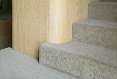 Beige fitted carpet Stock Photos