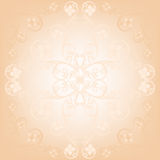 Beige floral background Royalty Free Stock Photography