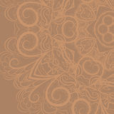 Beige floral pattern Stock Photo