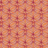 Beige Floral Seamless Pattern with Flower in Row Royalty Free Stock Photos