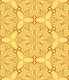 Beige floral seamless pattern Royalty Free Stock Photos