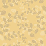 Beige floral seamless pattern - vector Stock Images