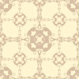 Beige floral wallpaper Royalty Free Stock Photos