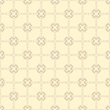 Beige floral wallpaper Royalty Free Stock Photo