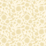 Beige floral wallpaper Royalty Free Stock Photography