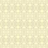 Beige floral wallpaper Royalty Free Stock Images