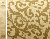 Beige floreale del backgroung senza giunte Immagine Stock