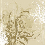 Beige flowers background Stock Image
