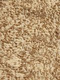 Beige fluffy floor carpet Stock Photo