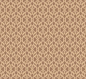 Beige Forged Seamless Pattern on brown background Royalty Free Stock Photos