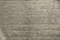 Beige fragment of metal blinds Stock Photos