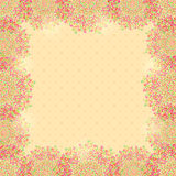 Beige Frame Decoration  with Hearts Royalty Free Stock Photo