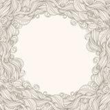 Beige frame met golven Royalty-vrije Stock Afbeeldingen