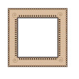 Frame in ethnic style. Beige frame with a pattern in ethnic style. Vector illustration Royalty Free Stock Photo