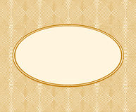 Beige frame on wooden background. Stock Photography