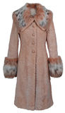 Beige fur coat Royalty Free Stock Image