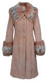 Beige fur coat Royalty Free Stock Image