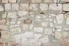Beige gammal textur för stentegelstenvägg Royaltyfria Bilder