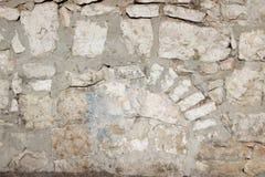 Beige gammal textur för stentegelstenvägg Arkivbilder