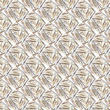 Beige geometric pattern Stock Photography