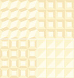 Beige geometric patterns  Stock Images
