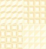 Beige geometrische Muster   Stockbilder