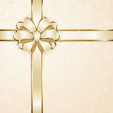 Beige gift bow Stock Photo
