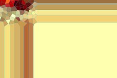 Beige and golden frame abstract background. Golden framed abstract background with small squares on the upper corner. Abstract design and texture Stock Image